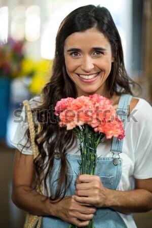 портрет красивая женщина обручальное кольцо ресторан бизнеса Сток-фото © wavebreak_media