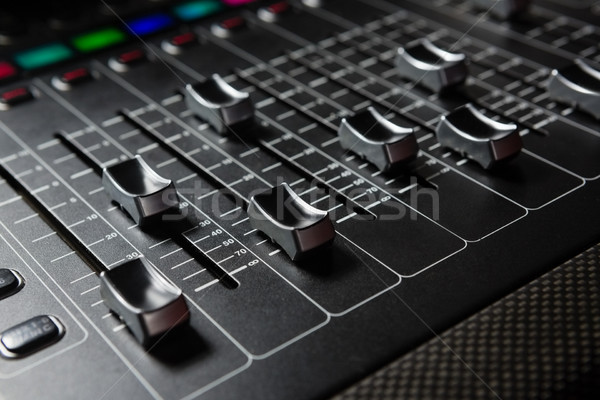 Primo piano suono mixer musica servizio Foto d'archivio © wavebreak_media