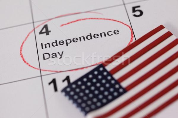 American flag with fourth of july calendar Stock photo © wavebreak_media