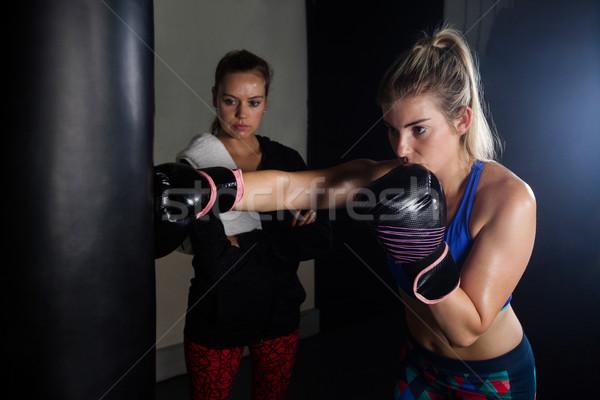 Trener kobieta boks fitness studio walki Zdjęcia stock © wavebreak_media