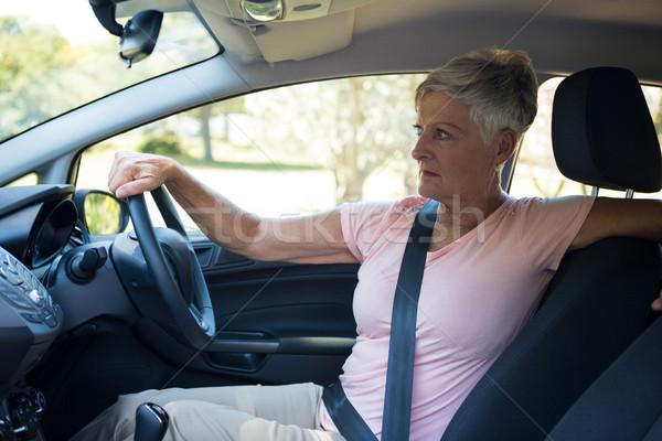 Senior mulher condução carro viajar Foto stock © wavebreak_media