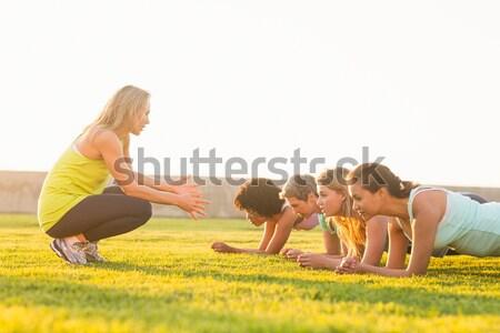 スポーティー 女性 フィットネス クラス 女性 幸せ ストックフォト © wavebreak_media