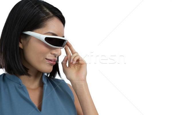 女性 執行 バーチャル 現実 ヘッド 白 ストックフォト © wavebreak_media