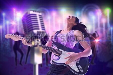 изображение Flying цветы женщины певицы Сток-фото © wavebreak_media