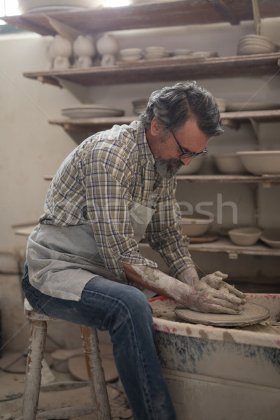 Male potter molding clay Stock photo © wavebreak_media