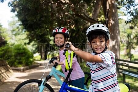 Instructor and kids having fun in park Stock photo © wavebreak_media