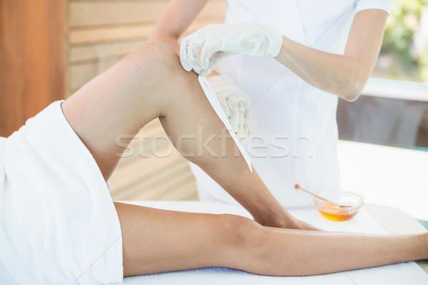 Donna caldo cera trattamento spa salute Foto d'archivio © wavebreak_media