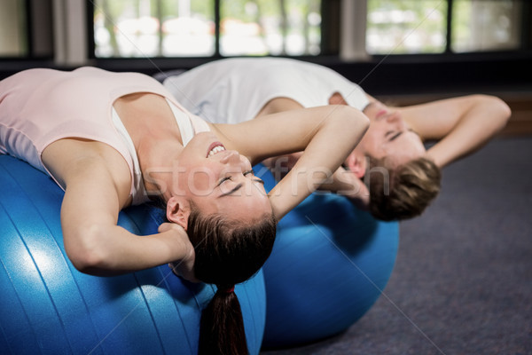 Uomo donna addominale fitness palla palestra Foto d'archivio © wavebreak_media