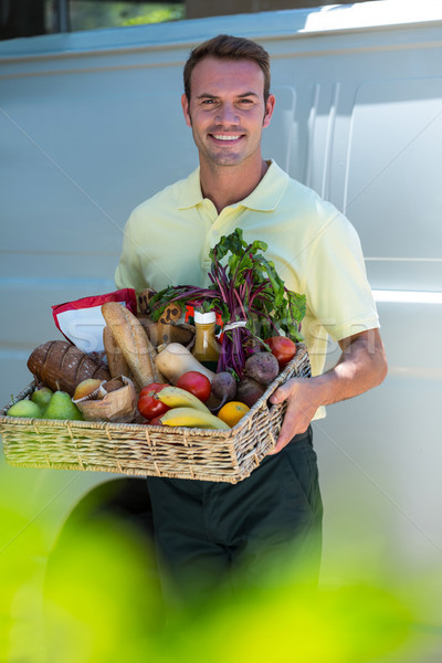 Felice uomo generi alimentari online alimentari fine Foto d'archivio © wavebreak_media