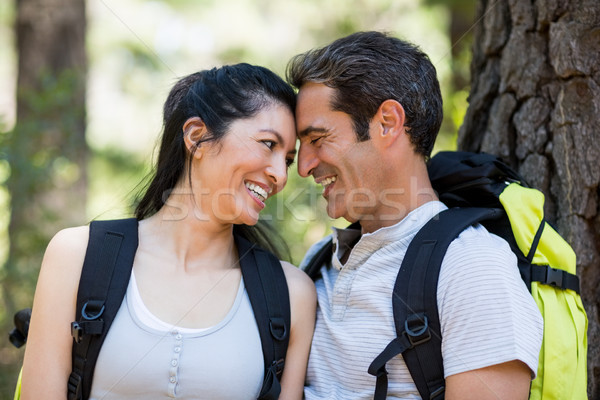Couple smiling and holding each other Stock photo © wavebreak_media