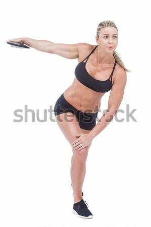 Female athlete throwing discus Stock photo © wavebreak_media