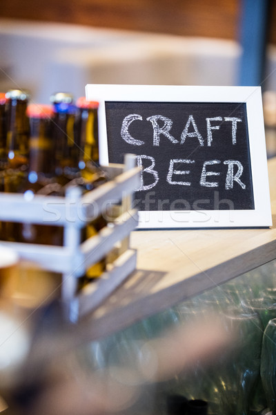 Craft beer written on slate Stock photo © wavebreak_media