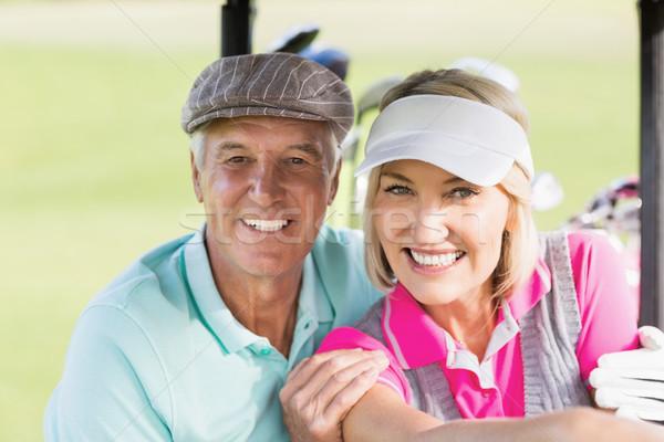 портрет гольфист пару сидят гольф Сток-фото © wavebreak_media