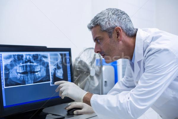 Dentista Xray monitor clinica Foto d'archivio © wavebreak_media