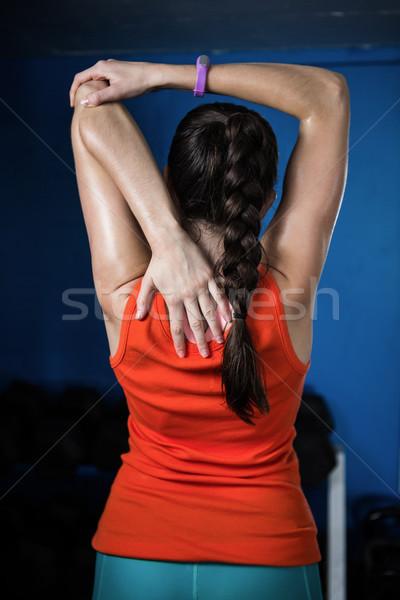 Hátsó nézet női atléta tornaterem testmozgás fitnessz Stock fotó © wavebreak_media