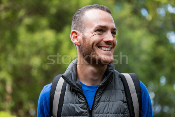 Male hiker hiking in forest Stock photo © wavebreak_media