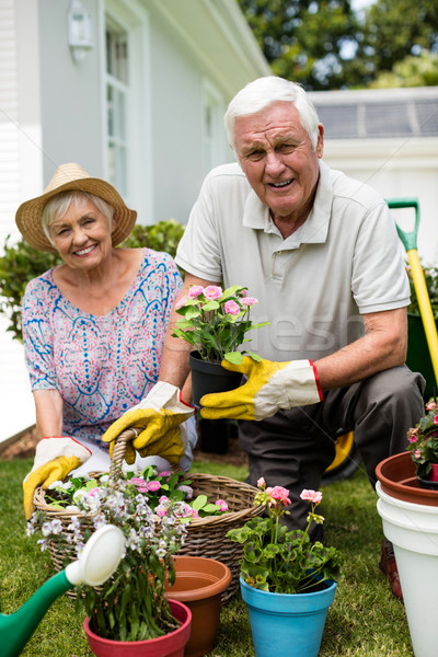 Portret tuinieren samen vrouw Stockfoto © wavebreak_media