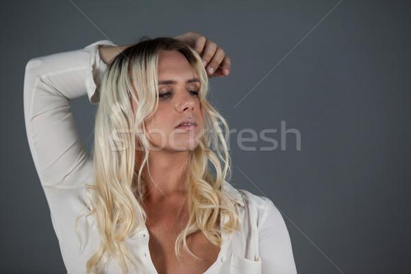Transseksüel genç kadın adam saç Stok fotoğraf © wavebreak_media