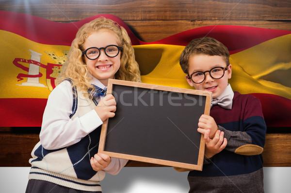 Imagem alunos quadro-negro livro Foto stock © wavebreak_media
