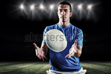 Afbeelding taai rugby speler naar Stockfoto © wavebreak_media