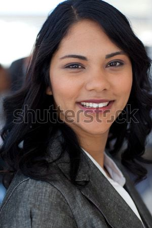 Portret etnicznych kobieta interesu biuro patrząc kamery Zdjęcia stock © wavebreak_media