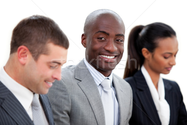 Stock photo: Self-assured multi-ethnic business people in a meeting