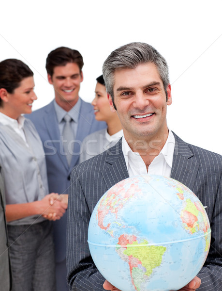 Ambitny kierownik zespołu świecie biały Zdjęcia stock © wavebreak_media