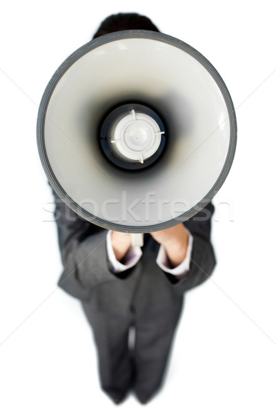Businesswoman giving instructions with a megaphone  Stock photo © wavebreak_media