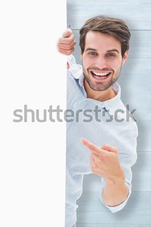 этнических очаровательный бизнесмен белый карт Сток-фото © wavebreak_media