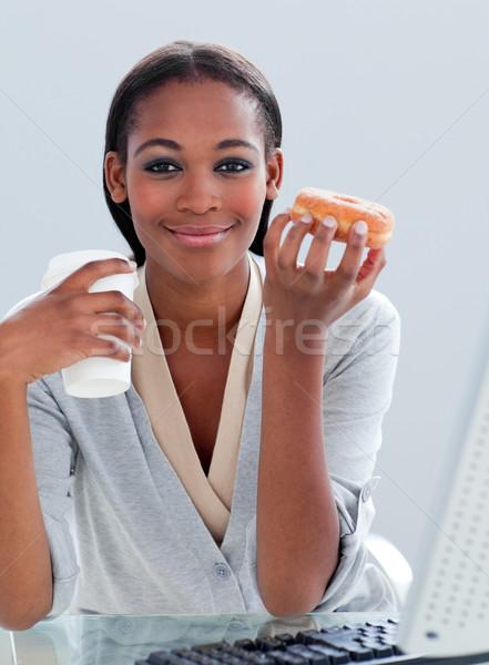 肖像 民族 女性実業家 飲料 コーヒー 食べ ストックフォト © wavebreak_media