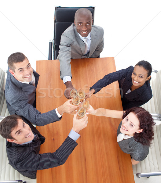 Business people celebrating a success with champagne Stock photo © wavebreak_media