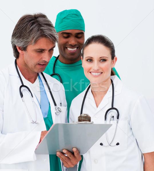 Portrait of medical team taking notes Stock photo © wavebreak_media