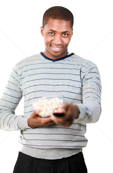 Man holding popcorn Stock photo © wavebreak_media