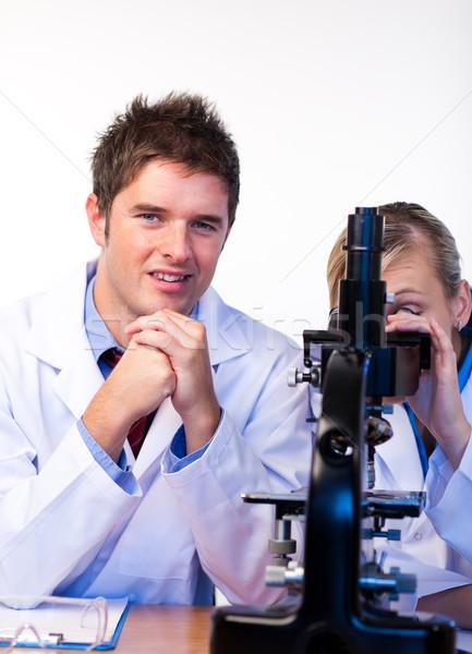 Wetenschappers laboratorium jonge computer vrouw Stockfoto © wavebreak_media