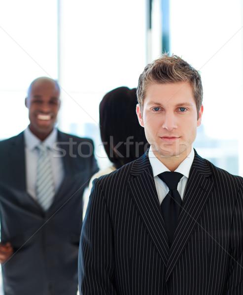 серьезный бизнесмен команда служба лице работу Сток-фото © wavebreak_media