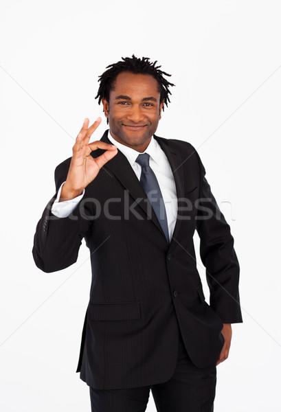 бизнесмен хорошо знак глядя камеры Сток-фото © wavebreak_media