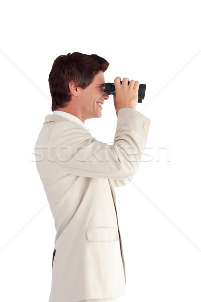 Affaires jumelles homme costume avenir regarder Photo stock © wavebreak_media
