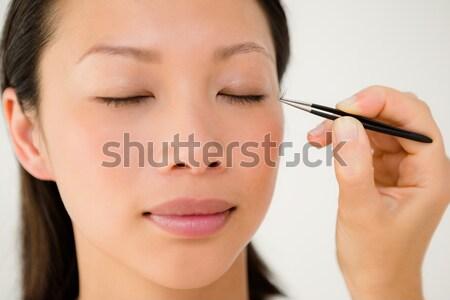 肖像 女性 プロ アーティスト スタジオ 笑顔 ストックフォト © wavebreak_media