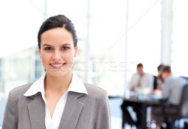 Aanbiddelijk zakenvrouw permanente team werken man Stockfoto © wavebreak_media