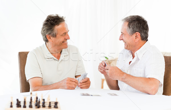 Men playing cards on the table Stock photo © wavebreak_media