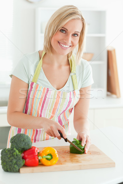 Prachtig vrouw groene peper Stockfoto © wavebreak_media