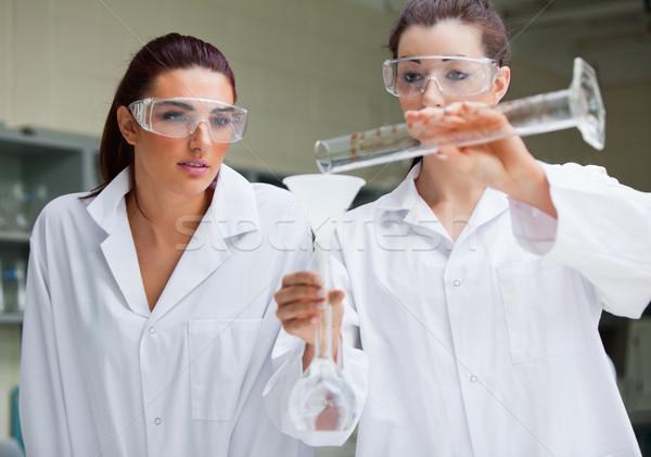 Káprázatos tudomány diákok kísérlet laboratórium munka Stock fotó © wavebreak_media