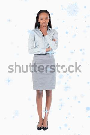 Portrait of a thoughtful businesswoman against a white background Stock photo © wavebreak_media