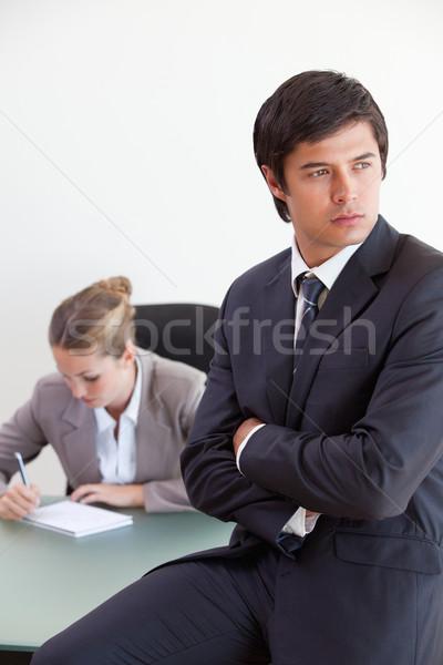 Сток-фото: портрет · менеджера · позируют · коллега · рабочих · служба