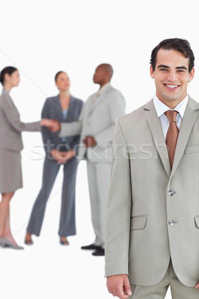 улыбаясь за белый бизнеса Сток-фото © wavebreak_media
