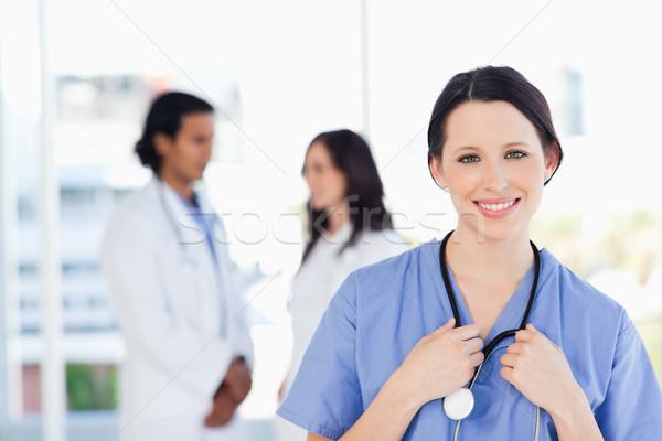 Stagiair permanente medische team man arts Stockfoto © wavebreak_media