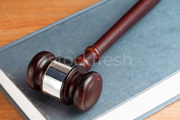 молоток синий книга столе Сток-фото © wavebreak_media