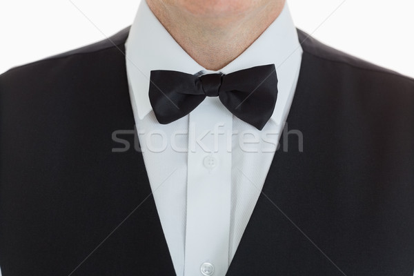 close-up of a waiter wearing suit with bow tie Stock photo © wavebreak_media