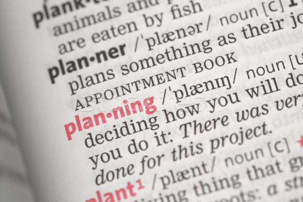 Pianificazione definizione dizionario rosso concetto conoscenza Foto d'archivio © wavebreak_media