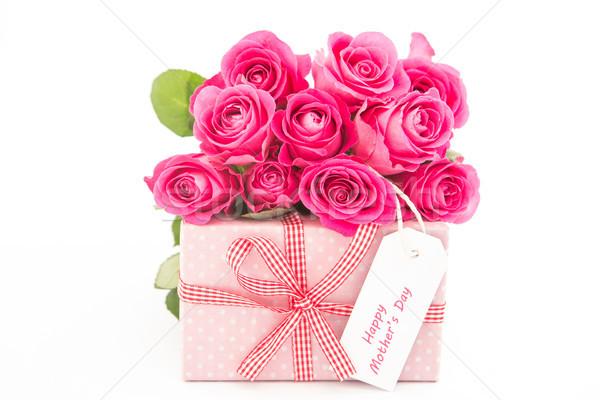 Buquê rosa rosas dom feliz mães Foto stock © wavebreak_media
